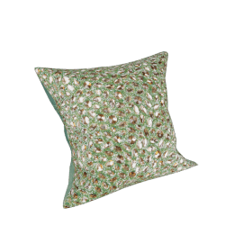 Jewel Stones Square Cushion - 45x45 cms, Green