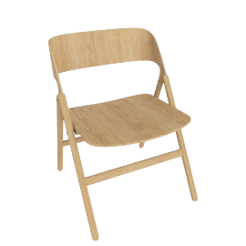 Narin Folding Chair, Oak
