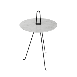 Tipi Low Table, Carrara