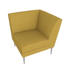 Libre Curved Corner Component - Ultrasuede®