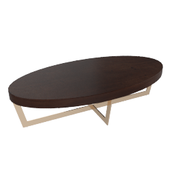 Belle Coffee Table, Dark Cherry / Gold