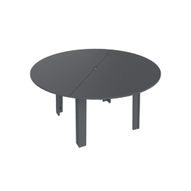 Fresh Air Round table 60'', Charcoal Grey