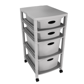 4 Drawer Unit, White