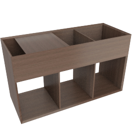 Eterno Side Storage - Walnut, Brown
