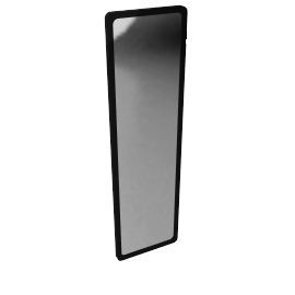 House by John Lewis Rounded Corner Mirror 140 x 40cm