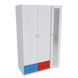 Blocks 3-Door Wardrobe