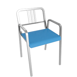 Nine-0 Stacking Armchair - 3 Bar Back