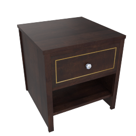 Indiana End Table - Dark Brown