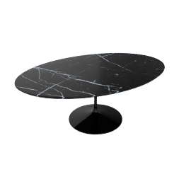 Saarinen Low Oval Coffee Table - Coated Marble 1 - Black.Nero
