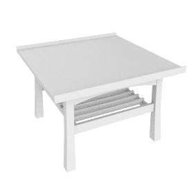 Shantou End Table, White