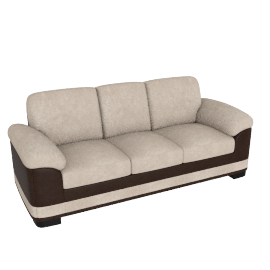 Santa Fe 3 Seater Beige and Brown