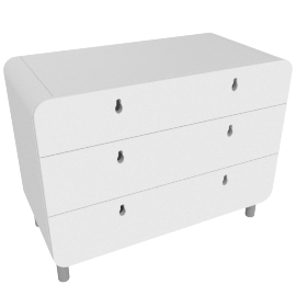 Matryoshka chest of drawers, white