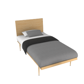 American Modern Bed in Twin - Maple