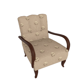 Pair of Beautiful Antique Arm Chairs in Fornasetti