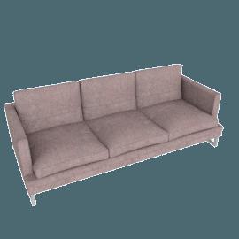 Corsica 3-Seater Sofa, Purple Grey