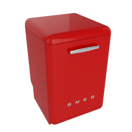 Smeg DF6FABR Dishwasher, Red
