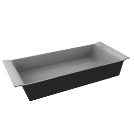 Ceramic Rectangular Dish, Black, L32cm