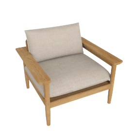 Terassi Lounge Chair, Papyrus
