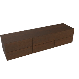 Zola Five Drawer Dresser - Low - Wenge
