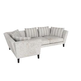 Regency LHF Large Corner End Sofa, Marlow Putty/Marlow Putty Stripe