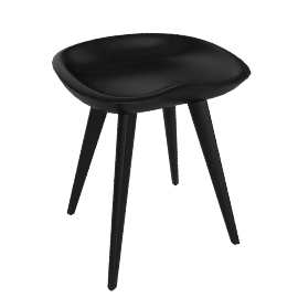 Tractor Stool - Ebonized.Wal