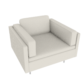 Bolster Armchair in Leather