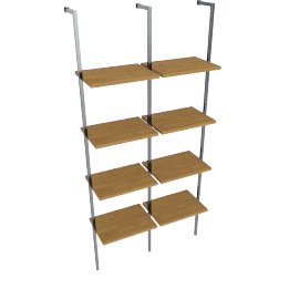 Matrix Double Narrow Shelf Unit