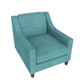 Halston Armchair, Aqua
