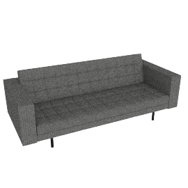 Fielding 3 Seater Sofa, Grey Herringbone