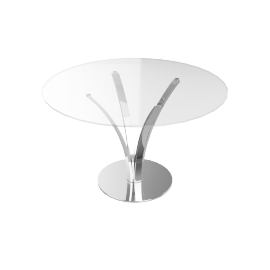 Moritz Dining Table, Stainless Steel