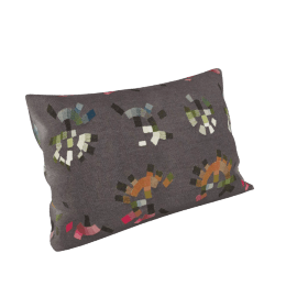 Maharam Pillow in Colorwheel 11X21, Charcoal
