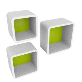 Cosmos Beat Wall Cube - Set of 3