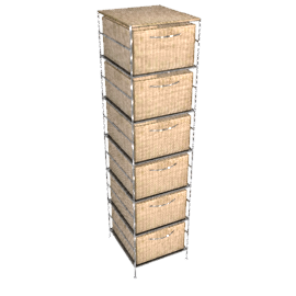 Seagrass 6-Drawer Unit