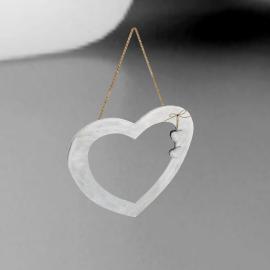 John Lewis Heart Mirror, Dia.30cm