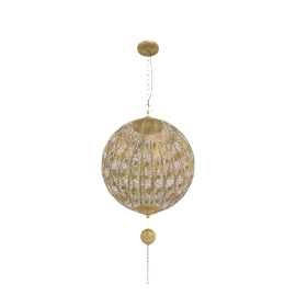 Ya Amar Metal Pendant Lamp - 40X40X56Cmgold