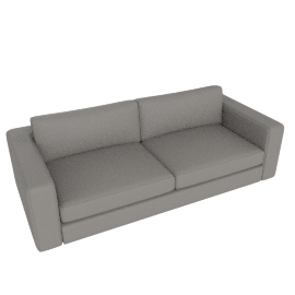Reid 86'' Sofa in Kalahari leather, Dovetail