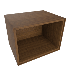Forma Small Open Box, Walnut