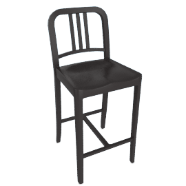111 Navy Counter Stool, Charcoal