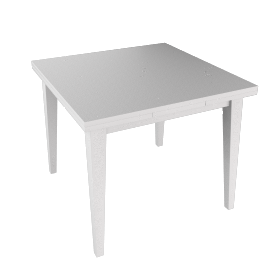 Quebec Extending Dining Table, White