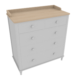 Lomond 5 Drawer Chest, Grey