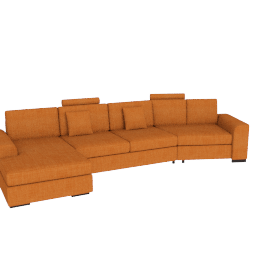 Askew Angle Corner Sofa Left