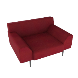 Cini Boeri Lounge Chair with Casters