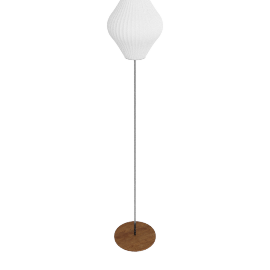 Nelson Pear Floor Lamp Small, Walnut Base
