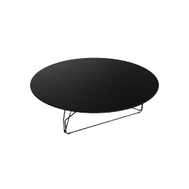 Polygon Wire Table - Large, Black
