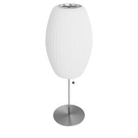Nelson Cigar Table Lamp, White