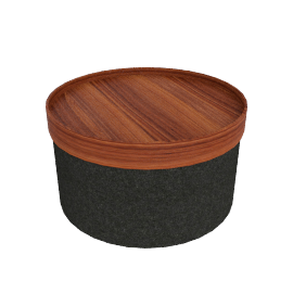 Drum Pouf, Wide - Anthracite