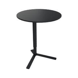 Yo Adjustable Side Table, Black