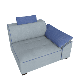 Caris Right Arm Sofa, Grey
