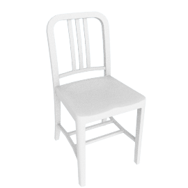 111 Navy Chair, White
