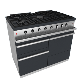 Westahl WG1052GE Dual Fuel Cooker, Anthracite